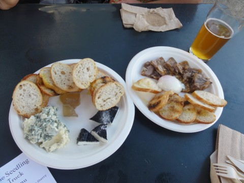 antonelli's cheese plate from seedling food truck austin