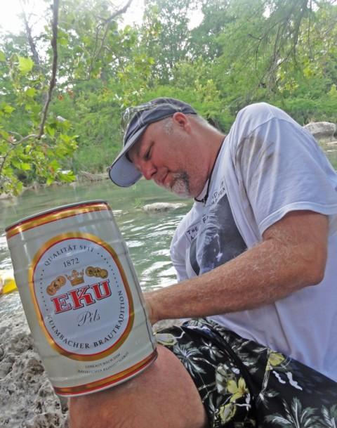 eku pilsner mini keg beer on the river fischer wimberley