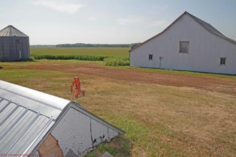 nebraska farm corn barn and water well