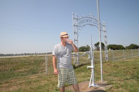 dork drinks ancestor well water from nebraska cemetery