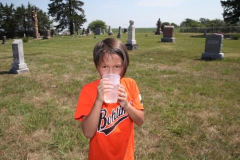 natty boh drinks ancestor water nebraska cemetery