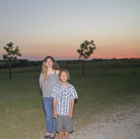 sun sets on the nebraska farm