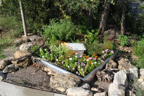 planter box flowers in westlake austin tx