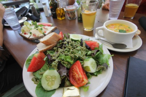 blue dahlia bistro salad mesclun
