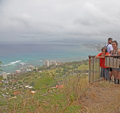 the view of honolulu from diamond head