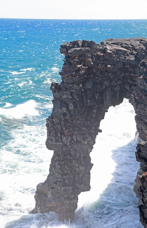 sea arch hawaii volcano national park