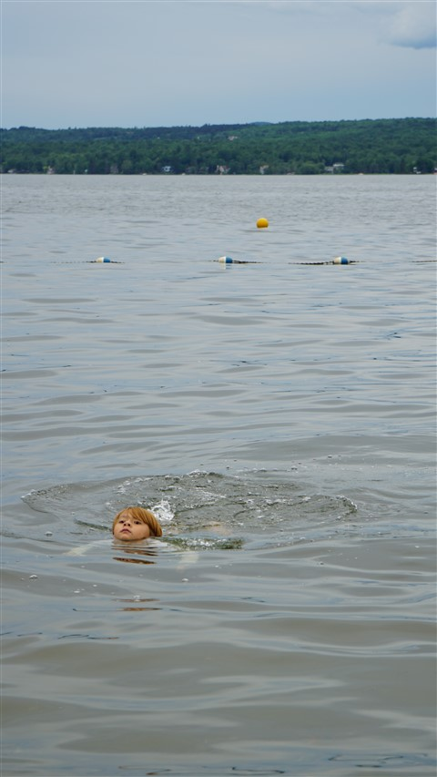 swimming lake memphremagog quebec