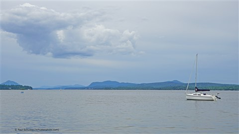 sailboat on lake memphremagog quebec