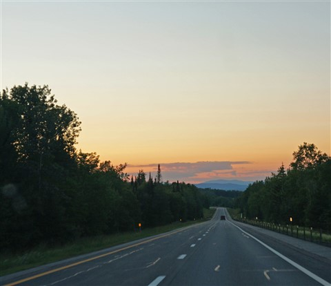 sunset from hwy 91 VT