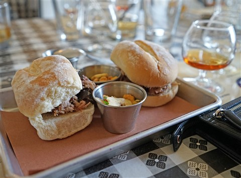 brugal rum and cuban pulled pork at freedmen's austin bbq