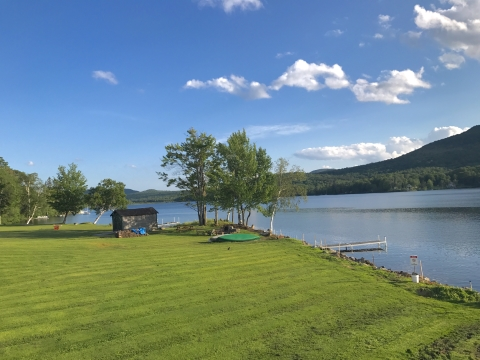 elmore store vermont deck view lake