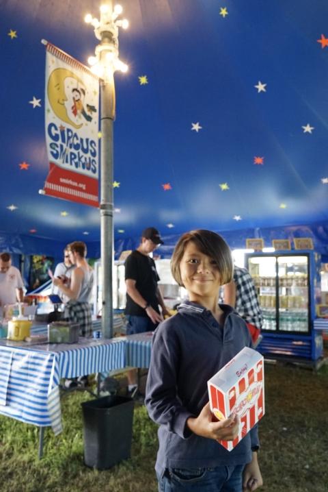happy circus smirkus 2017 popcorn