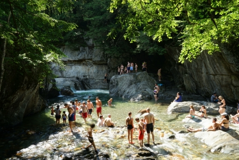 warren falls vermont waterfall and swim hole