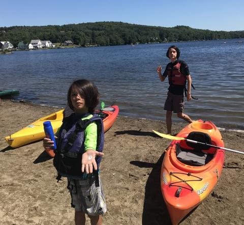 elmore state park beach kayak vermont