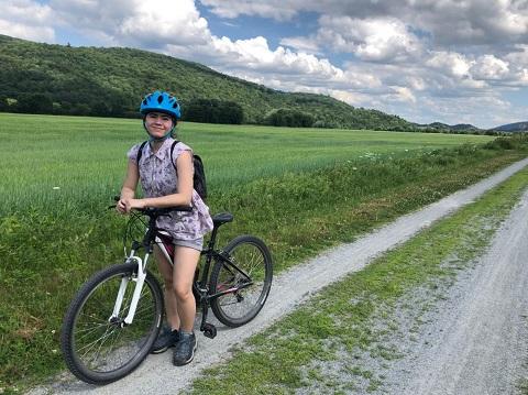 lvrt bike trail vermont johnson vt nek summer