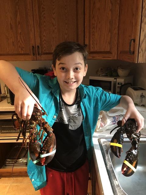 $5.77 per lb live lobsters