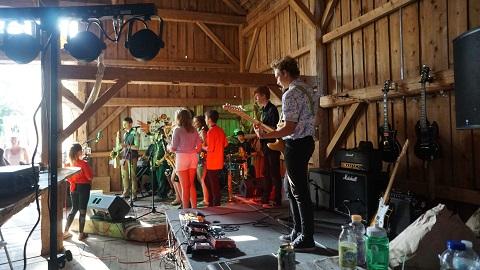 kingdrom allstars band at red barn brewing danville vt