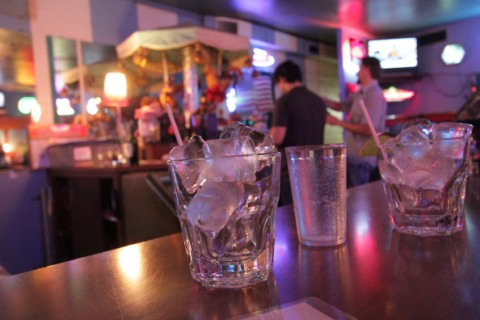 drink set-ups at carousel