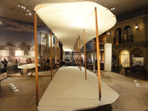 wright brothers first flight plane at the smithsonian dc