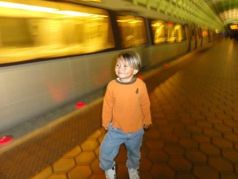 boy in dc metro station