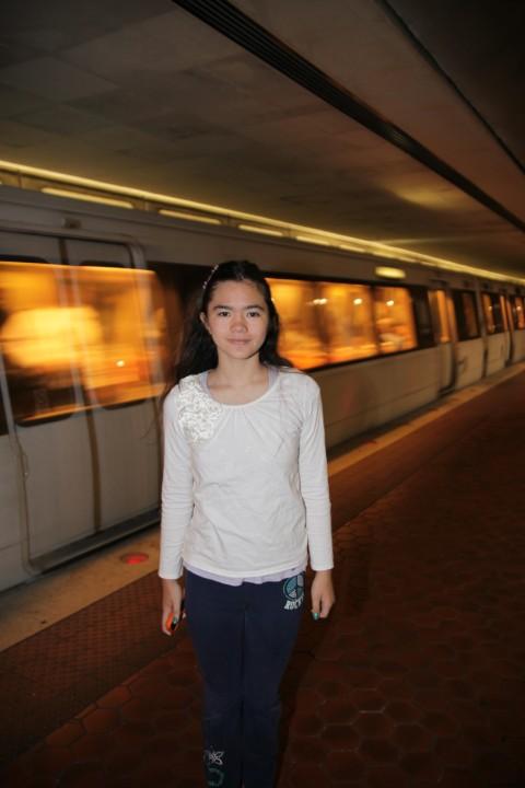 dc metro train speeding through the statin