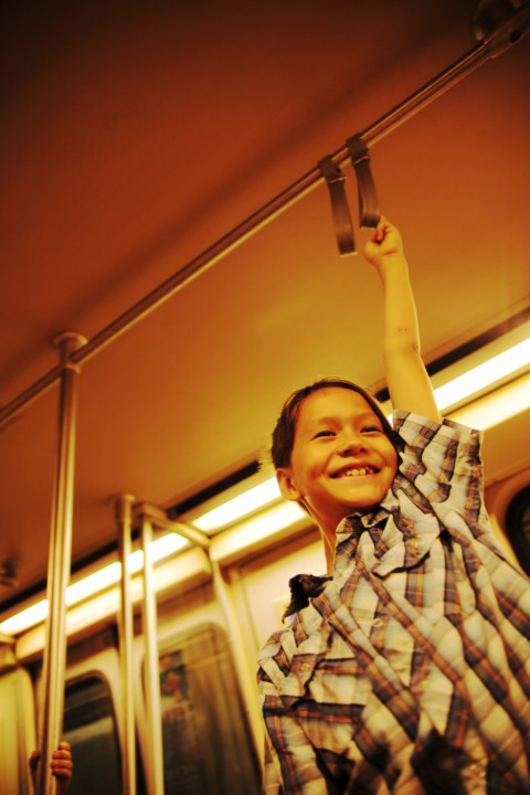 young dc metro commuter