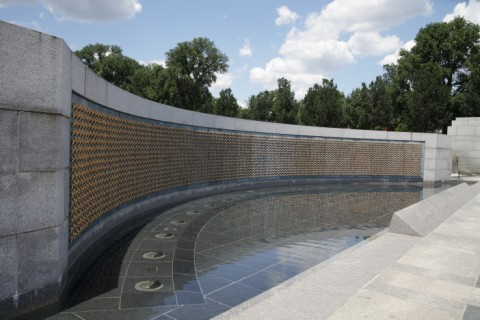 4,048 gold stars at the WWII memorial