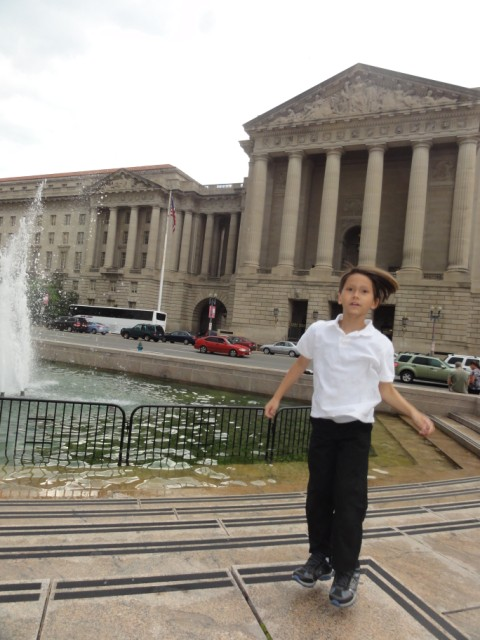 washington DC fountain levitation