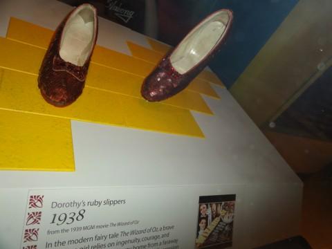 dorothy's ruby slippers wizard of oz smithsonian museum washington DC