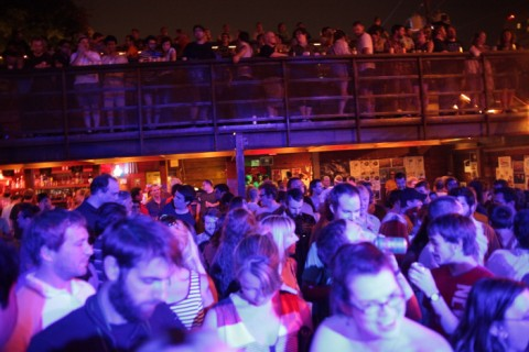 crowd outside at the mohawk austin