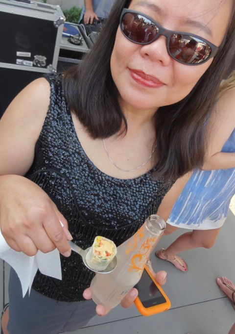 springroll on a spoon at w hotel coco breve party austin monthly magazine