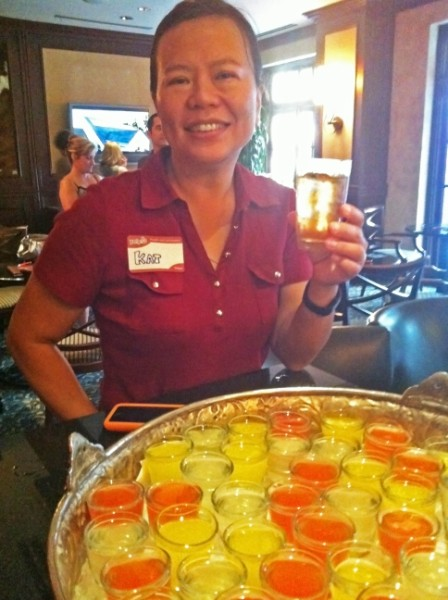fruit and champagne shooters at stephen f austin terrace bar yelp elite party