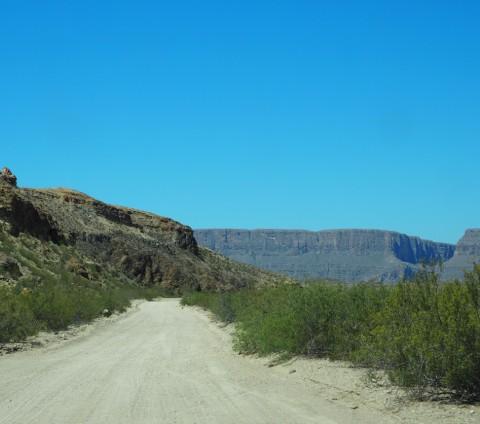 old maverick dirt road big bend santa elena canyon