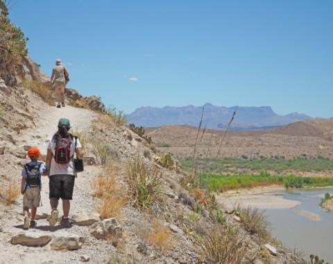 big bend hiking with kids