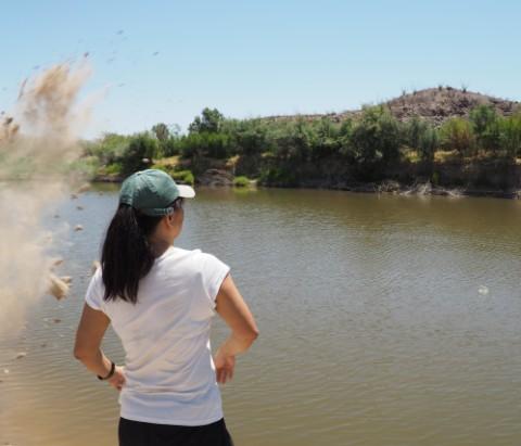 dirt clod explosion santa elena river big bend texas mexico border