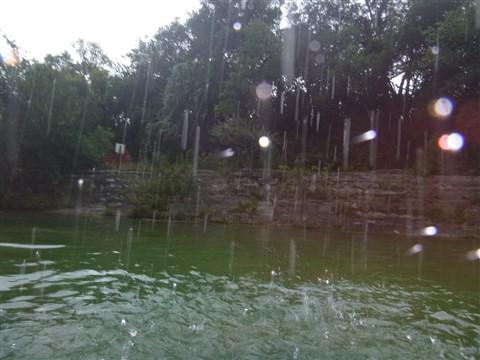 rain at barton springs pool austin