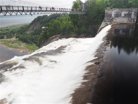 top of montmorency falls qeubec