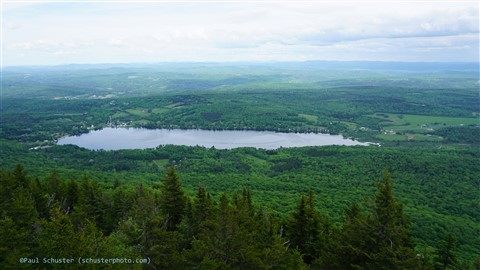lake elmore from the fire tower vermont