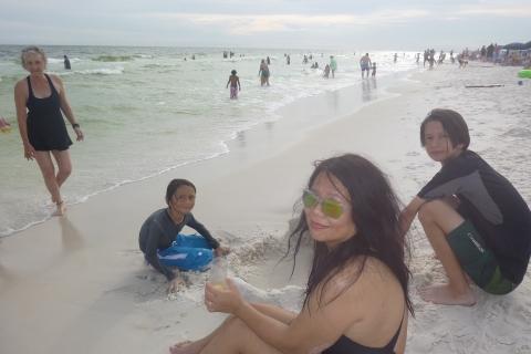 watercolor florida beach