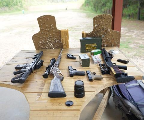 shooting range at fort bragg guns