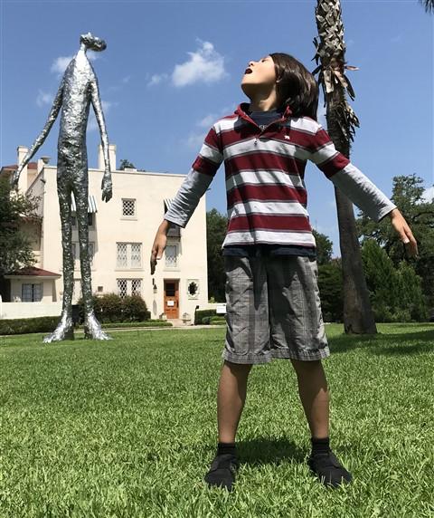 laguna gloria tin foil man austin art sculpture