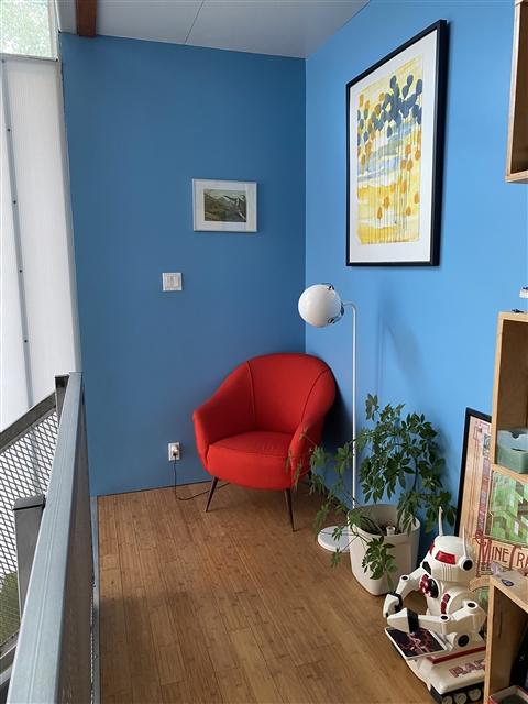 red italian chair