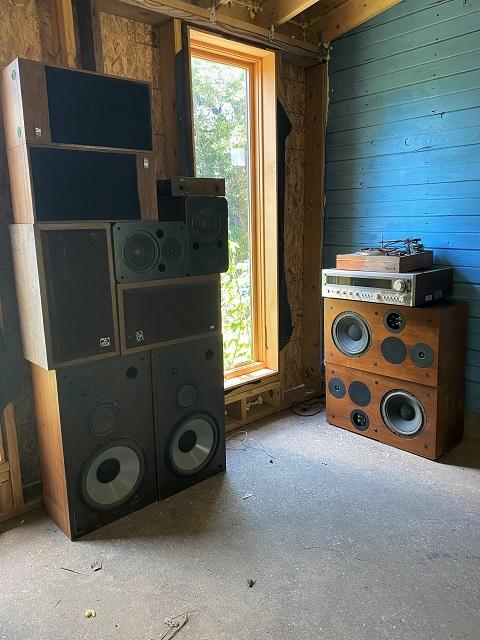 vintage hi-fi speaker collection