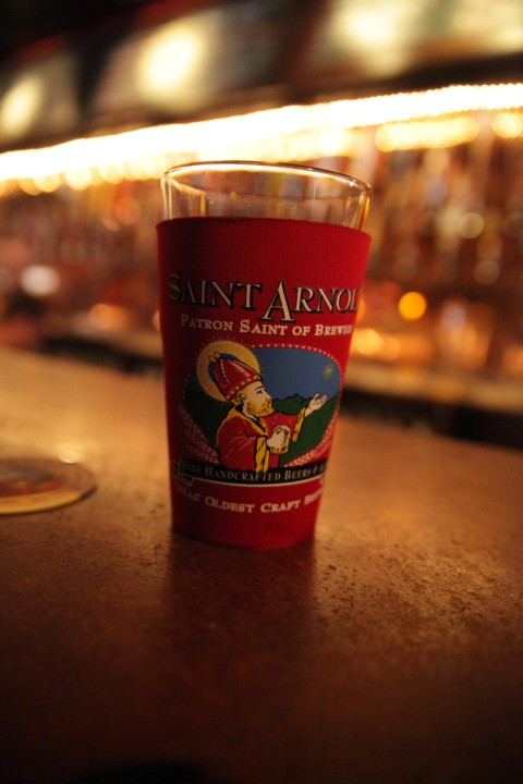 saint arnold's pint koozy