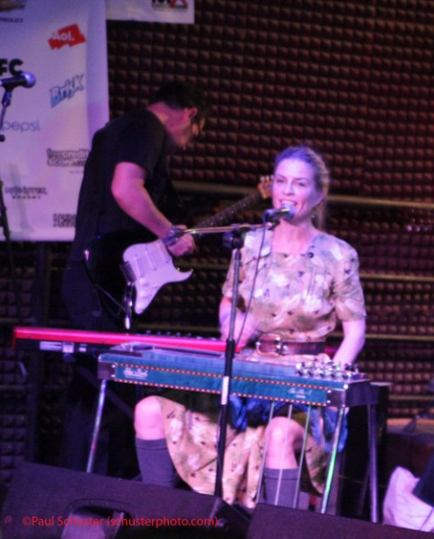 Maggie Bjorklund on steel guitar
