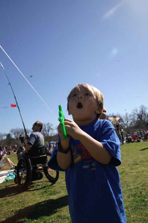 happy kite flying boy zilker park festival austin