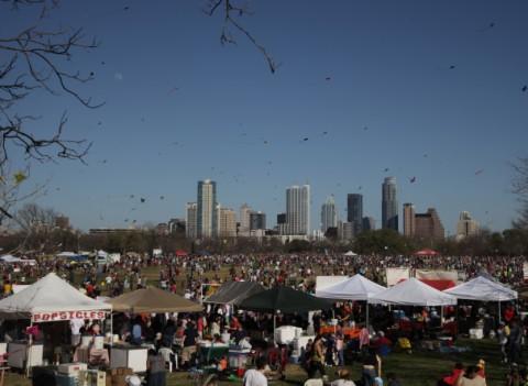 zilker park kite festival 2012