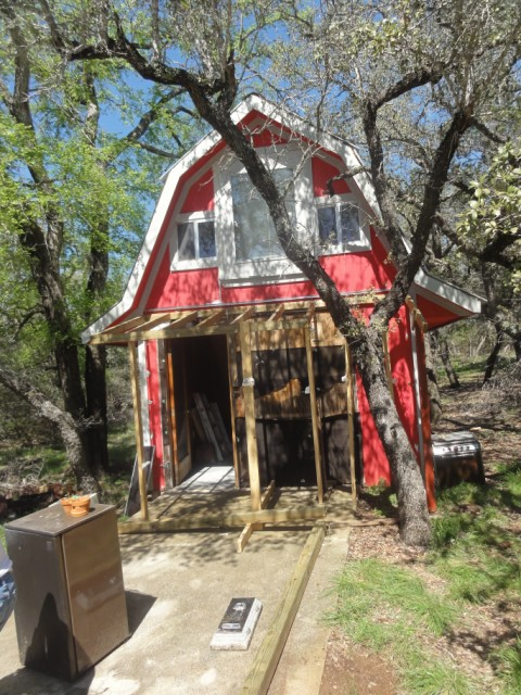 little red cabin on the blanco