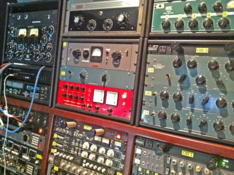 knobs galore at austin private recording studio eanes wright's class