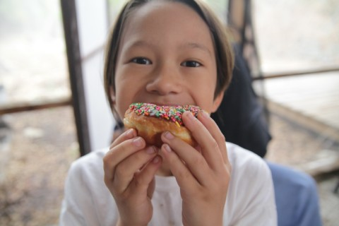 wimberley donut with sprinkles
